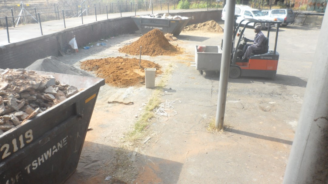 Cleaning up of the Site( Rubble Removal)
